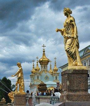 Санкт Петербург, Россия, Статуи, Дворец