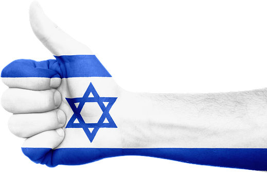 Israël, Vlag, Hand, Nationale, Vingers