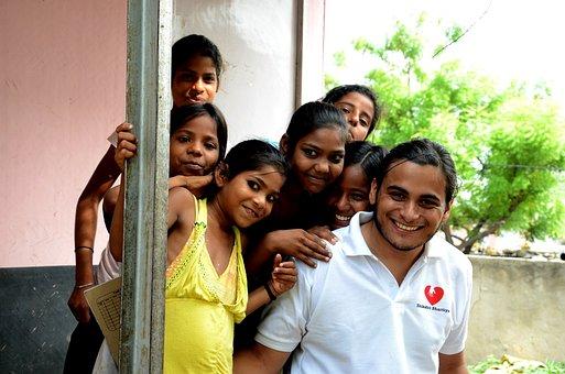 子供, インド, ボランティア, ボランティア, ボランティア, ボランティア