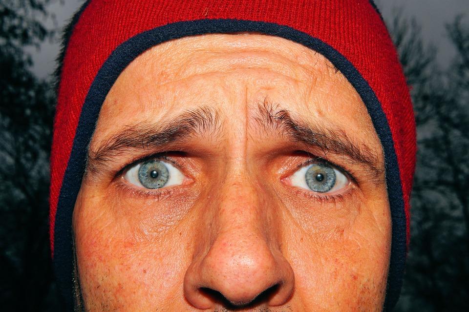 男, 顔, 悲しい, 落ち込んで, 人間, 目, 絶望, 眉毛, 見える, 生徒