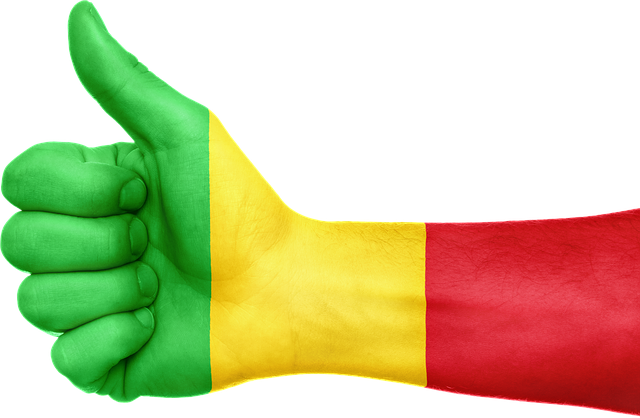 free illustration  mali  flag  hand  national  fingers