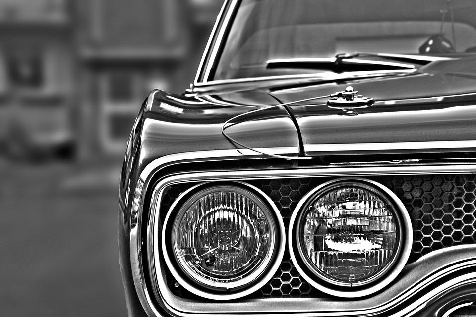 自動, スポットライト, ランプ, オールドタイマー, 自動車, 車両, 車のヘッドライト