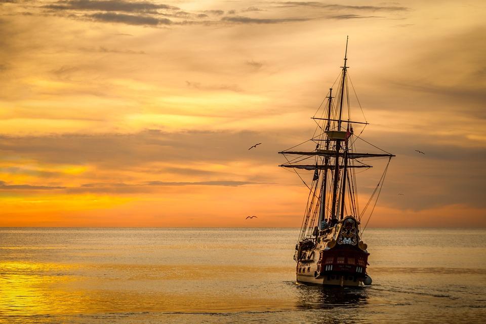 Tramonto, Barca A Vela, Barca, Mare, Nave