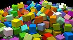 cubes, assorted, random