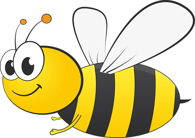 Bee graphic spring · free vector on pixabay