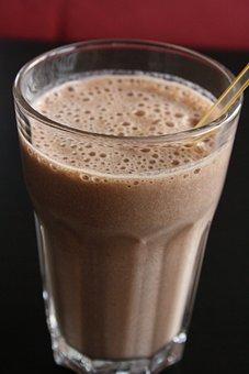 Shake, Chocolate, Banana, Drink, Straw
