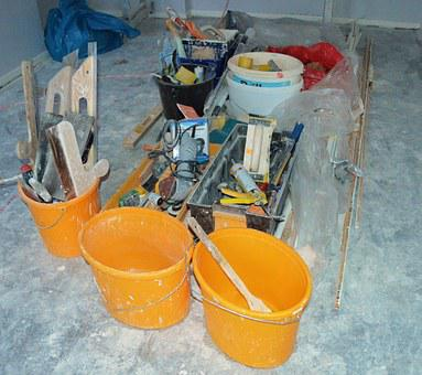 Renovate, Tool, Painter, Work, Site
