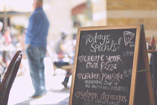 Blackboard, Chalk, Board, Cafe, Daily