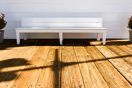 Bench Relax Wooden Panels Rough Sun Summer