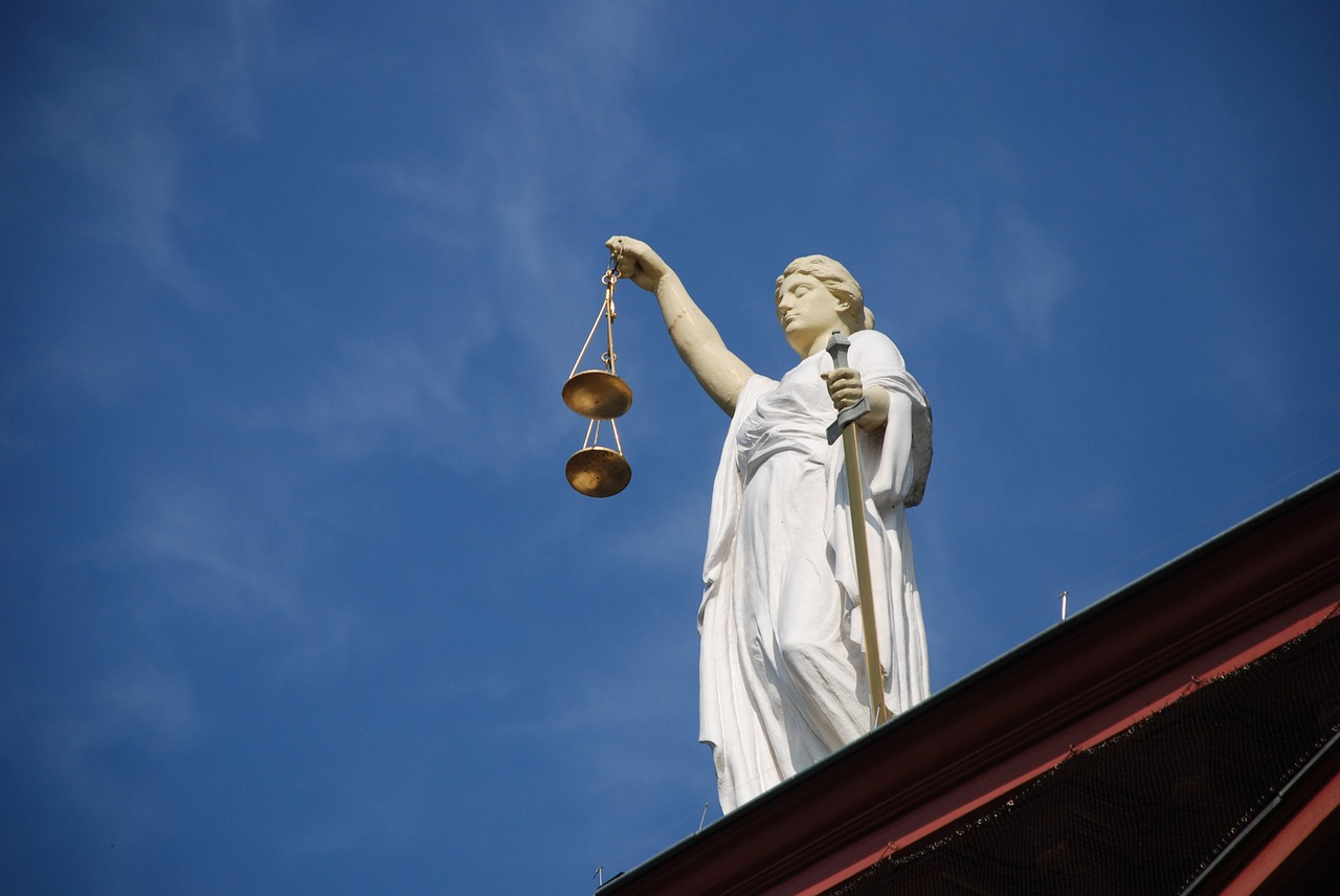 Lady justice, Law