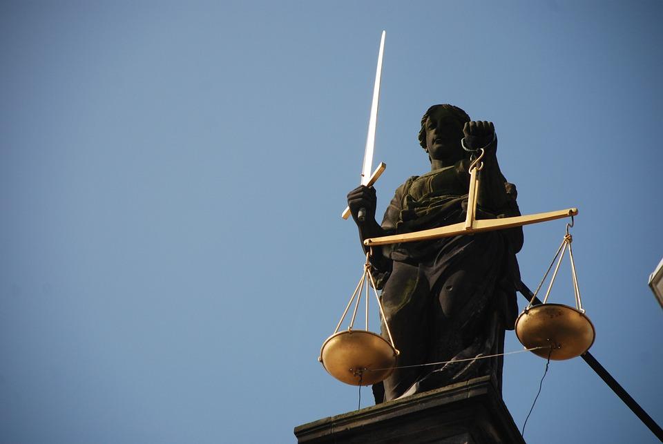 Dame Justice, Jurisprudence, Droit, Échelle, Cour
