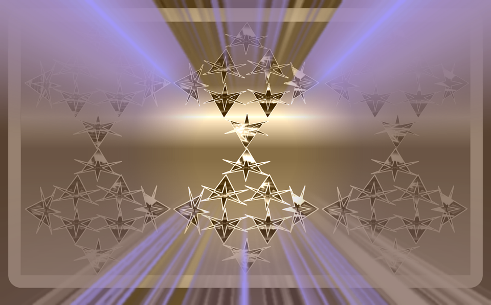 free illustration gold stars purple glow free image