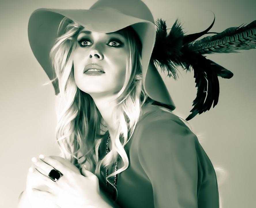 portrait femme au chapeau