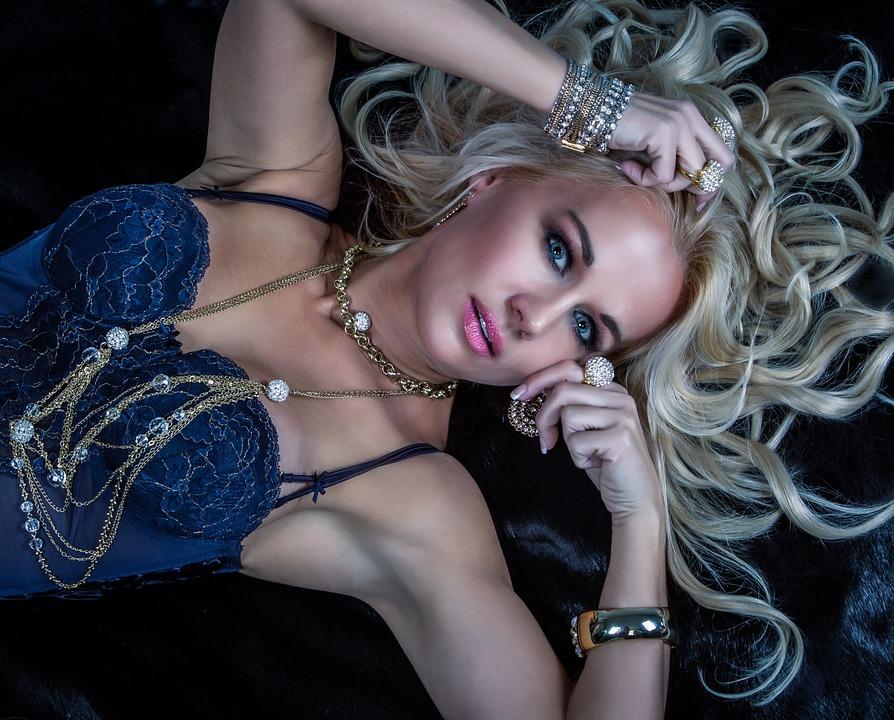 Mujer, Modelo, Retrato, Glamour, Joya, Estilo