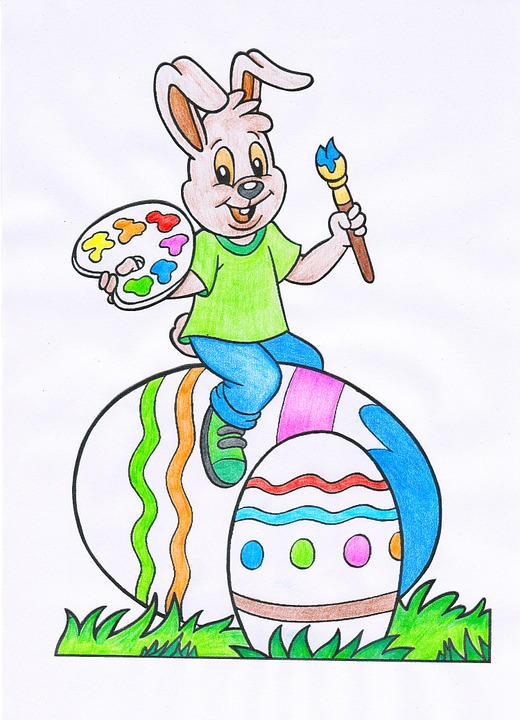 Easter Egg Bunny Color Colorful Joy