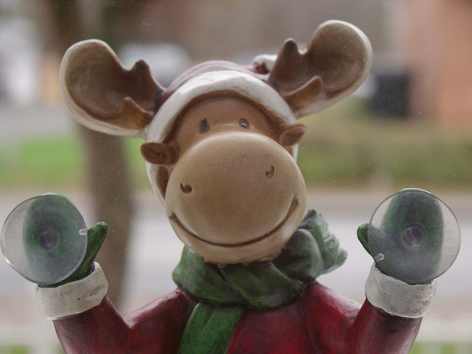 Kostenloses foto weihnachten rentier fenster for Rentier dekoration