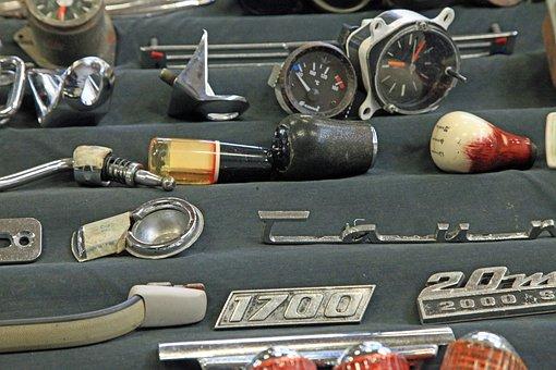 自動車, スペアパーツ, アンティークカー, 金属, 修理, 車の部品