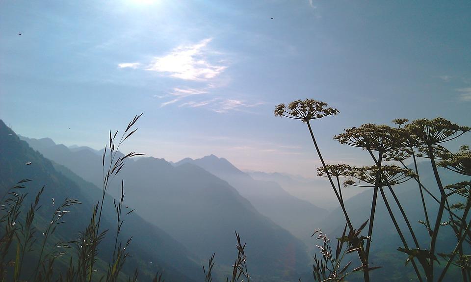 Montagnes, Qualité De L'Air, Heaven, Froid, Fleur, Bleu