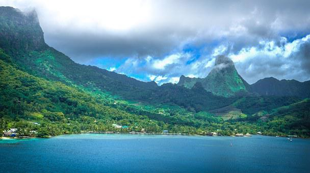 Moorea French Polynesia Tropical Island Pa