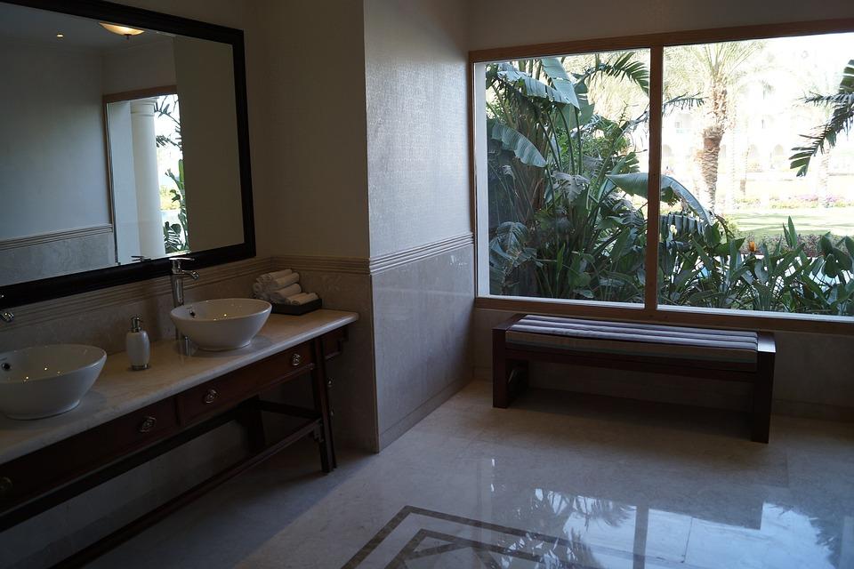 gratis foto: badkamer, wastafel, luxe, wellness - gratis, Badkamer