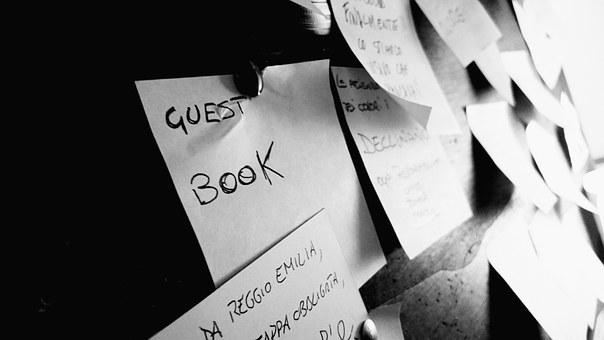 Sticky notes guests book for 9 sources to find quality content for your website