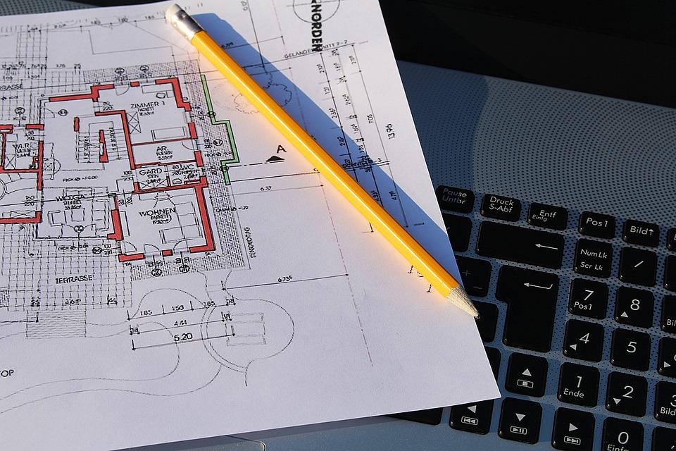 Free photo Building Plan Laptop Visit Plan Free Image on