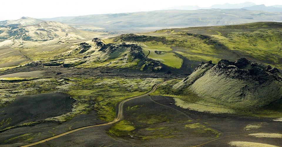 Islandia, Volcán Laki, Espumas, Pista De Lava, Ceniza