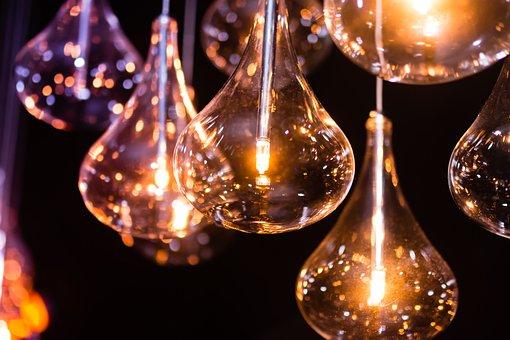 Cahaya, Lampu, Bola Lampu Listrik
