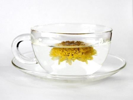 カップ, 茶, 菊花