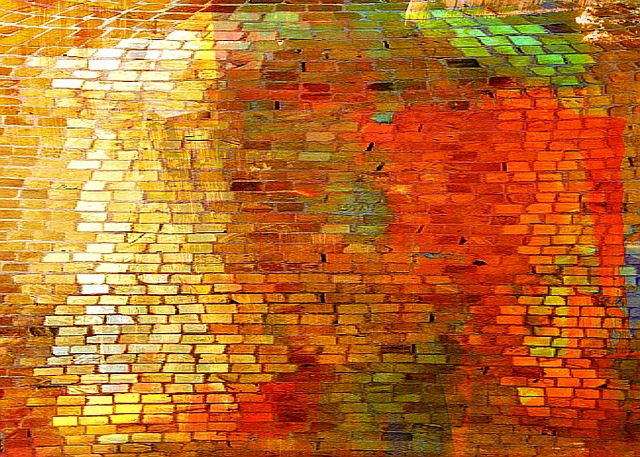 Free Illustration Shiny Brick Wall Pattern Free