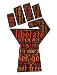 fist, liberate, change
