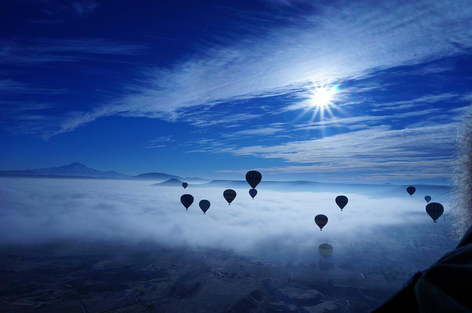 Free Photo Hot Air Balloon Sky Blue Cloud Free Image