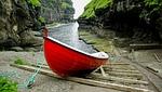 faroes, boat, port