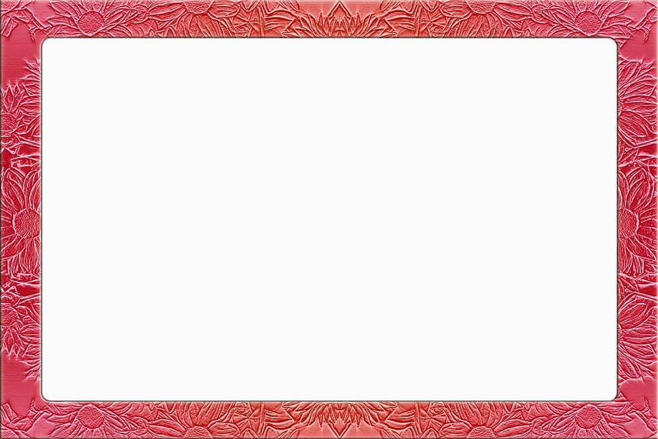 Picture Frame Floral Red Metallic 682797 on nature frames