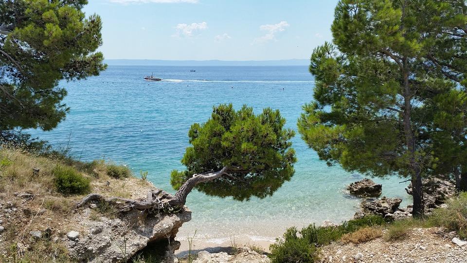 Horvát Tengerparton, Strand Makarska, Tenger, Adriai