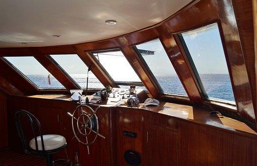Cabine, Navire, Gouvernail, Mer, Le Pont