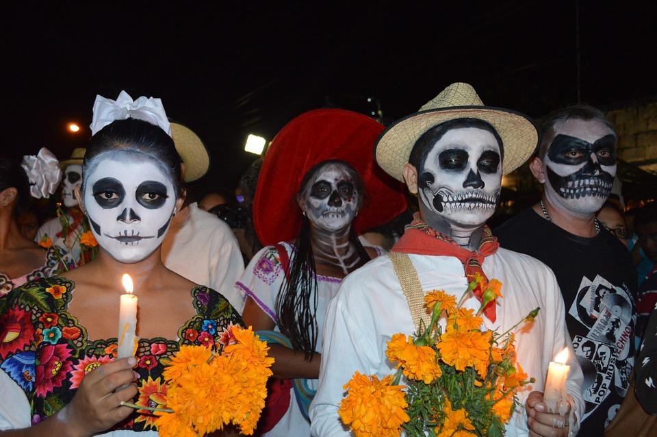 ハロウィーン, Diademuertos, アニマス, 死, カトリーナ, 工芸品, ユカタン半島, メキシコ