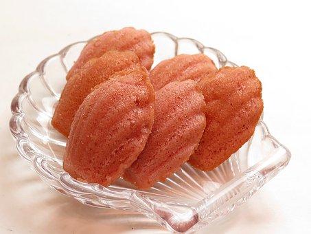 マドレーヌ, 桜, フランス菓子, お菓子, スイーツ, 甘い, デザート
