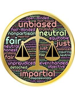 La Justice, Échelles, Équité, Impartial