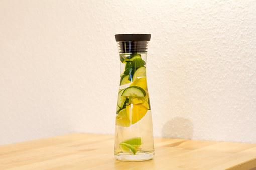 Detox Water Carafe Drink Lemon Lime Cucumb