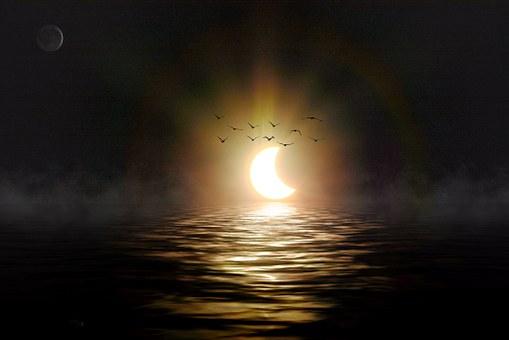 日食, 太陽, 自然の光景, 明るい, Eklispe, 天文イベント