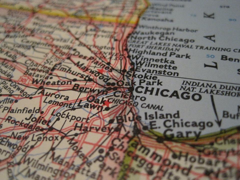 Chicago Map CloseUp Free photo on Pixabay