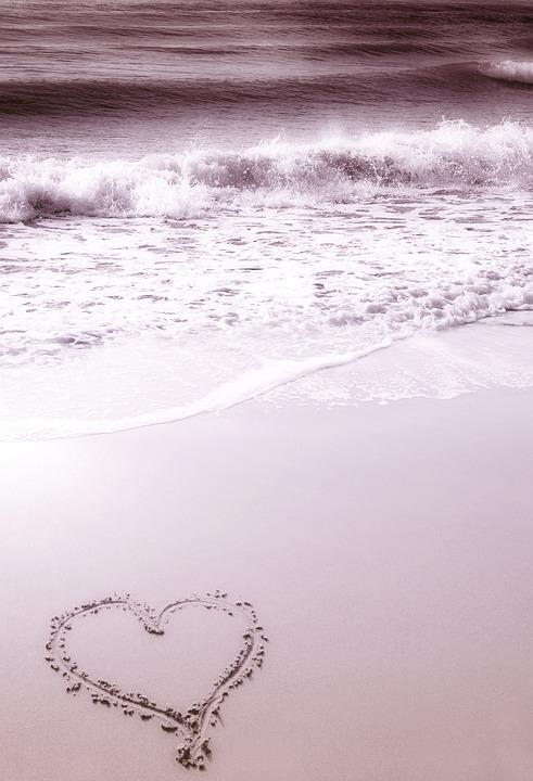 Sfondo Spiaggia Cuore Foto Gratis Su Pixabay