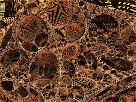 Fractal, Render, 3D, Honeycomb