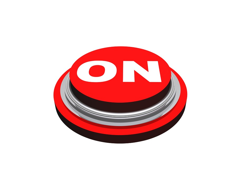 On Button Press Icon Symbol Power Technology