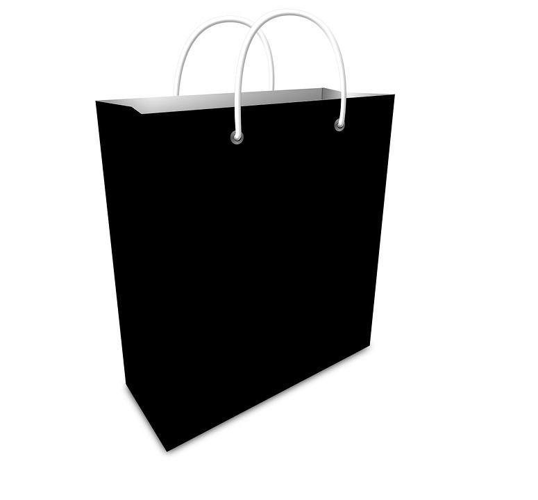 free illustration bag shopping black sale shop free