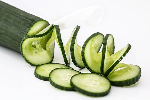 Cucumber Salad Food Healthy Green Fresh Ve