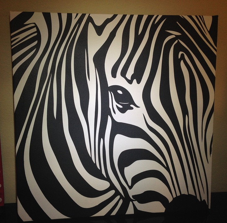 kostenloses foto tier zebra leinwand malerei kostenloses bild auf pixabay 685933. Black Bedroom Furniture Sets. Home Design Ideas