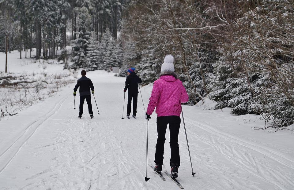 Invierno, Montañas, Nieve, Esquí De Fondo, Deporte