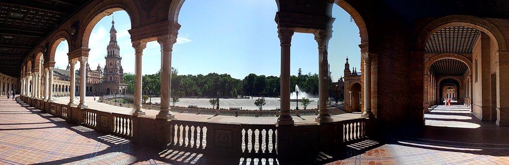 Seville, Spain, Europe, Panoramic